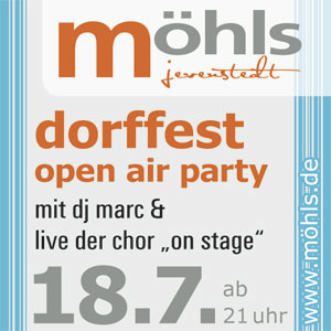 Open Air Party am 18.07.2015